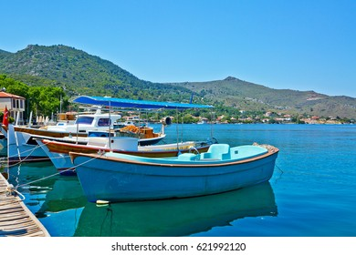 Amazing scape from Selimiye Village in Marmaris, Turkey. Marmaris is near the Mediterranean Sea. Beautiful destination for vacation with Cruise.