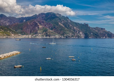 Amazing Scenery Of Amalfi Coast - Salerno Province, Campania Region, Italy, Europe
