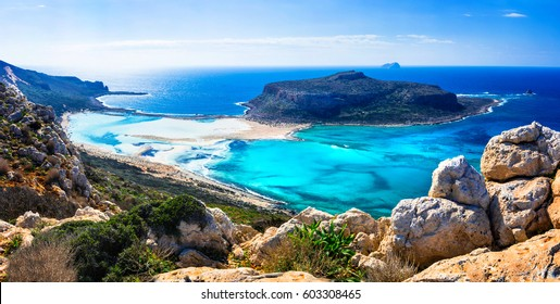 amazing scenery of Greek islands - Balos bay in Crete island