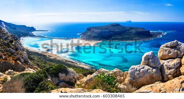 Wunderschöne Landschaft auf griechischen Inseln - Bucht von Balos auf Kreta