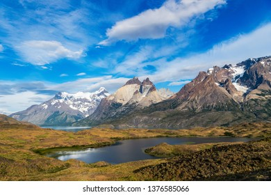 Amazing Scenery in Torres del Paine National Park, Patagonia, Chile