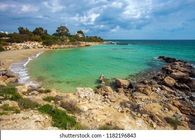 Amazing sea landscape on the way from Protaras to Ayia Napa around Cape Greco
