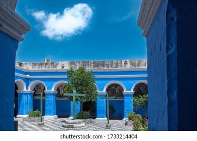An amazing shot of the Santa Catalina Monastery Arequipa in Peru