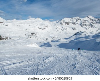 Amazing skiing slopes in Austrian Alps. Gorgeous snow park with breathtaking views. Pure joy and fun.