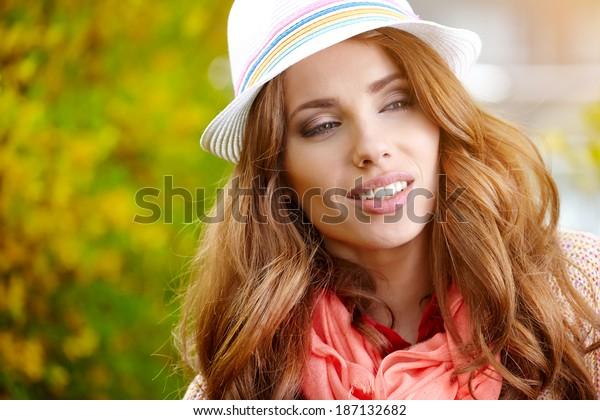 Amazing spring woman portrait