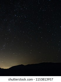 Amazing Star Night at summer time over mountains.