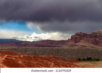 Amazing storm clouds over Capitol Reef National Parkin Utah, USA.