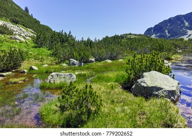 Amazing summer landscape of Banski lakes, Pirin Mountain, Bulgaria