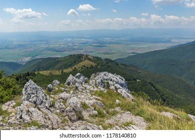 Amazing Summer Landscape to Stara Planina ( Balkan ) Mountains from Shipka peak , Stara Zagora Region, Bulgaria