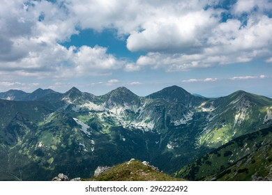 Amazing summer mountains under blue sky with white clouds - West Tatras, Slovakia, Europe