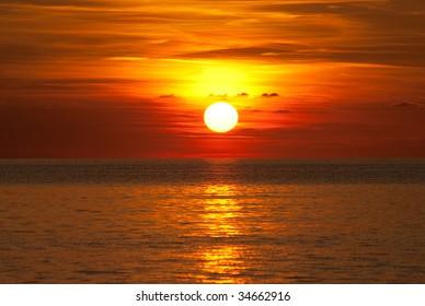 Amazing sundown