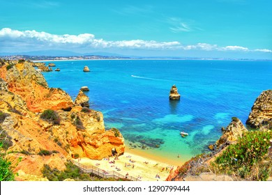 The amazing sunkissed Algarve coastline, with its stunning beach hidden among secret coves.