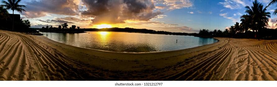 Amazing Sunrise in Fiji Island