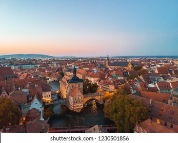 Amazing sunset in Bamberg, Bavaria