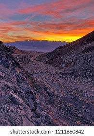 Amazing sunset in Death Valley National Park, California, USA