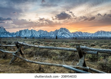 Amazing Sunset in Grand Teton National Park