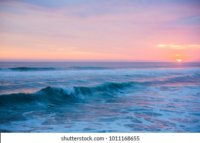 An amazing sunset in ocean