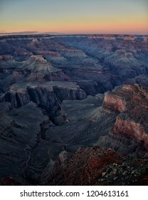 Amazing sunset on Grand Canyon. View from Hopi point.