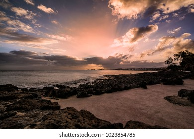 Amazing sunset over Lanzarote, Canary Islands, Spain