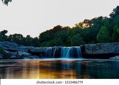 An amazing sunset over McKinney Falls.