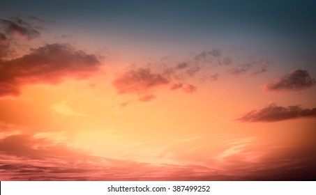 Amazing sunset sky for background. Vivid colors.