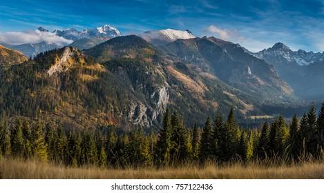 Amazing sunset in Tatra mountains