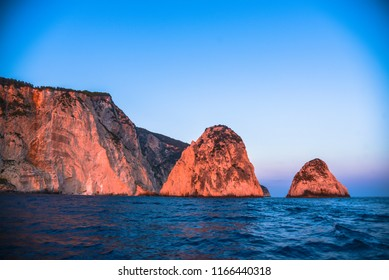 Amazing sunset in Zakynhtos island