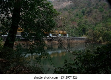 Amazing surroundings of Neriamangalam Dam built across Muthirapuzha river,  a tributary  of Periyar river in Kerala State of India