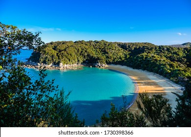 Amazing Te Pukatea Bay view from the lookout, Abel Tasman Coast Track, Abel Tasman N.P, Tasman, South Island, New Zealand