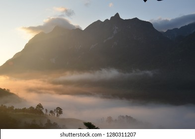 Amazing Thailand The Clound at Morning sunrise - See mist and range mountain Land of the view The Clound beautiful at Mon chiang Dow Chiang Mai