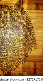 Amazing tiger pyrography