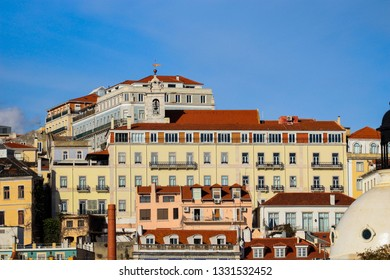 Amazing top view from the city of Lisbon in Portugal