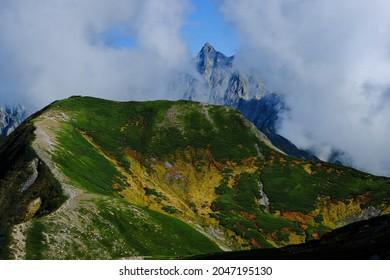 Amazing trekking area in Japanese North Alps.Mt Yari