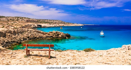 amazing turquoise sea of Cyprus island. Outstanding beauty and cystal clear waters