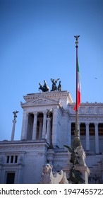 Amazing view of Altar of the Fatherland- Altare della Patria, known as the national Monument to Victor Emmanuel II in city of Rome, Italy