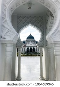 The amazing view of Baiturrahman Grand Mosque, Aceh, Indonesia.