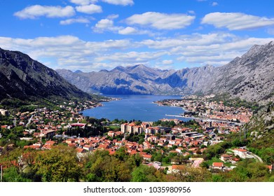 Amazing view of the bay of Kotor, Montenegro
