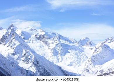 Amazing view of the Caucasus Mountains (Dombay, Karachay-Cherkess Republic)
