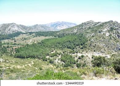 Amazing view from Cruz de Juanar in Spain