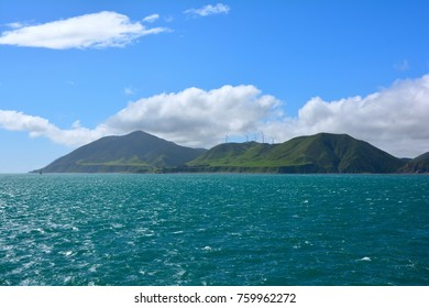 Amazing view from deck of ferry travel from Wellington to Picton, New zealand.