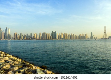 Amazing view of Dubai Marina and JBE Residential and Business Skyscrapers, Dubai, United Arab Emirates