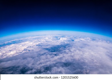 Amazing view of edge of earth and atmosphere layer - Shutterstock ID 1201525600