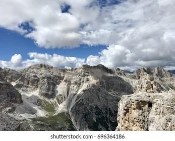 Amazing view from ferrata Giovanni Lipella - Dolomites Italy