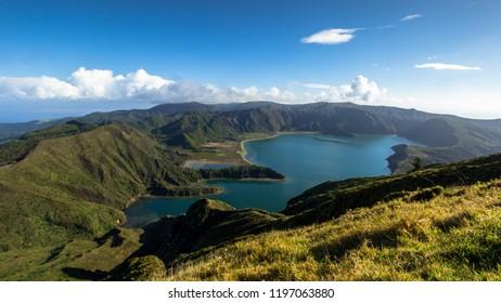 "Amazing view of fire Lake ""Lagoa do fogo ""in São Miguel Island - Azores - Portugal"