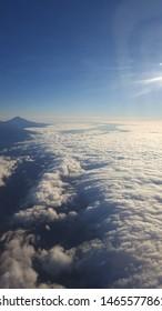 Amazing view, flying over Tenerife.