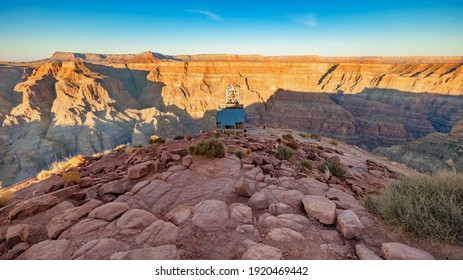 Amazing view of the Grand Canyon, near the Skywalk observation deck. Arizona. United States of America
