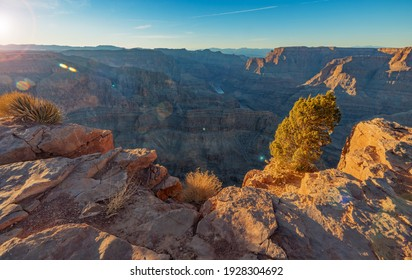 Amazing view, of the Grand Canyon, near the Skywalk observation deck. Arizona. United States of America
