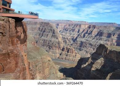 Amazing view Grand Canyon. Skywalk. Arizona. USA