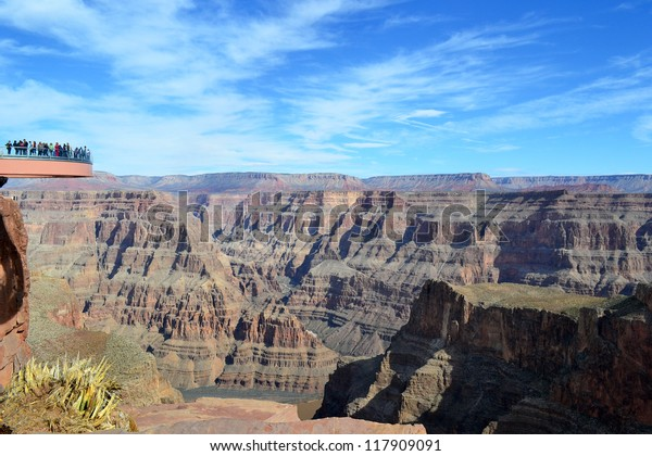 Amazing View Grand Canyon Skywalk Sky Stock Photo Edit Now