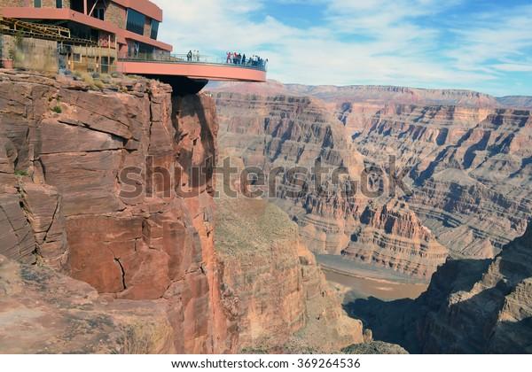 Amazing View Grand Canyon Skywalk Arizona Stock Photo Edit